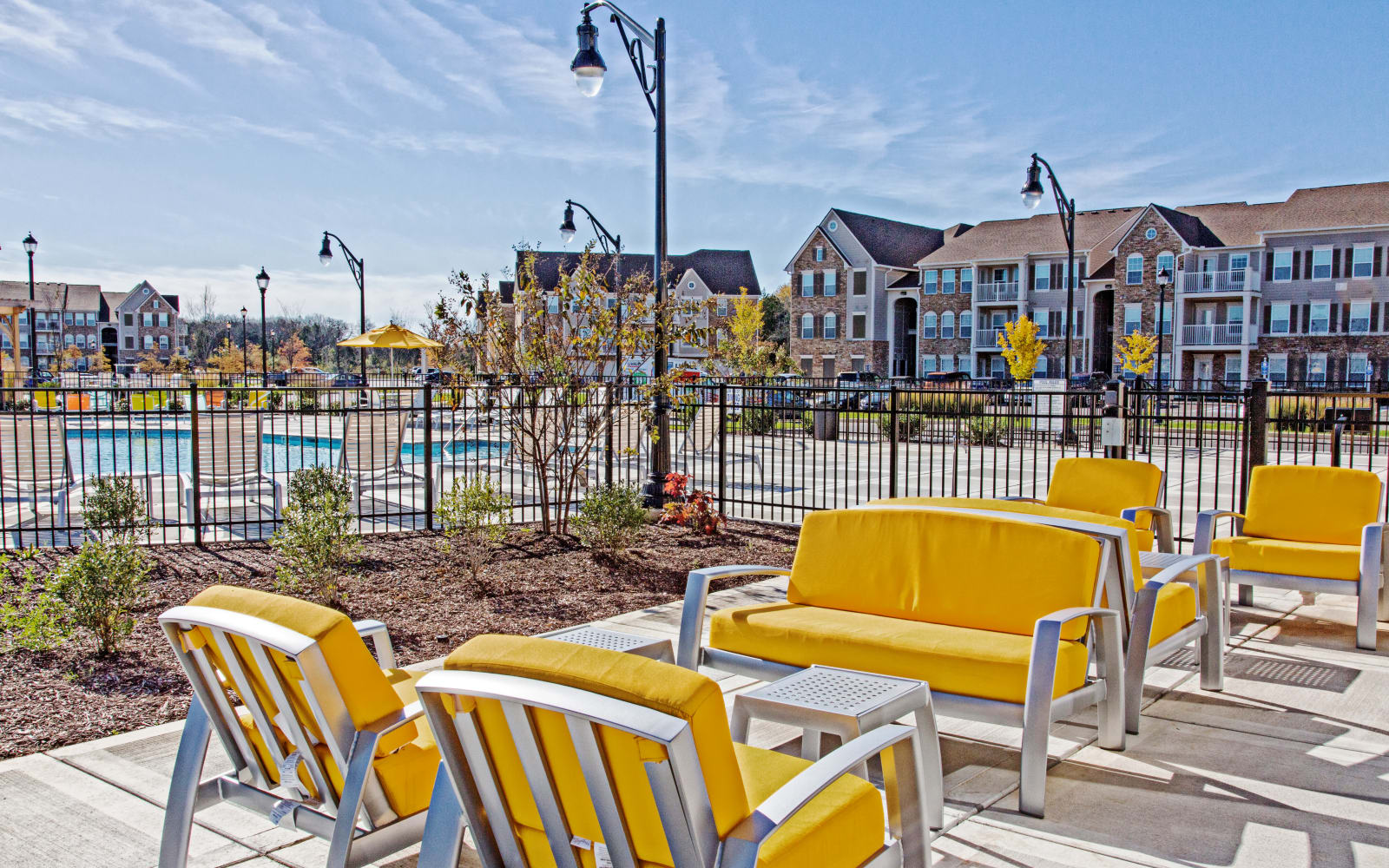 Outdoor patio furniture at Arbor Brook in Murfreesboro, Tennessee