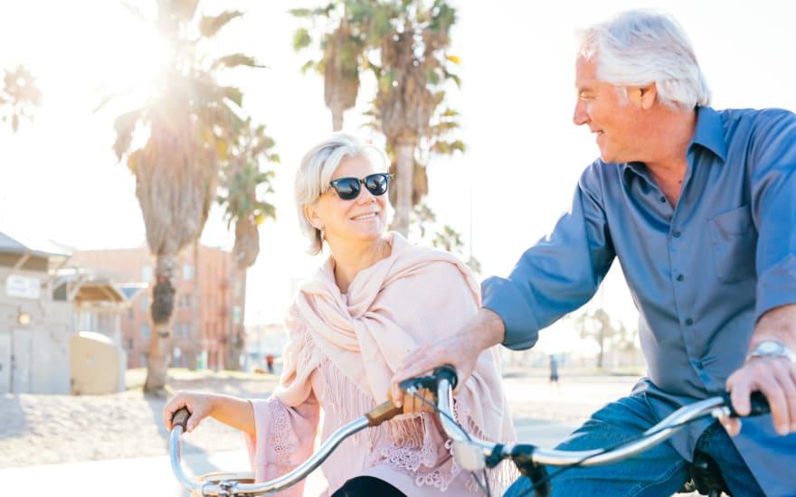 Residents on a bike ride near WellQuest of Menifee Lakes in Menifee, California