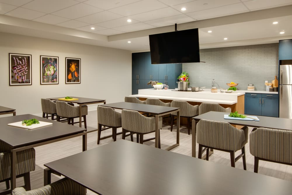 Cooking classroom available for residents of Sage Glendale in Glendale, California
