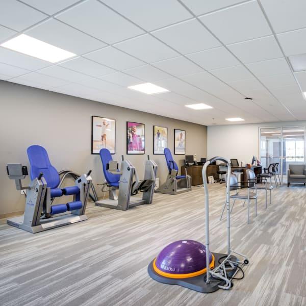 Gym set up for a seminar at Quail Park at Morrison Ranch in Gilbert, Arizona