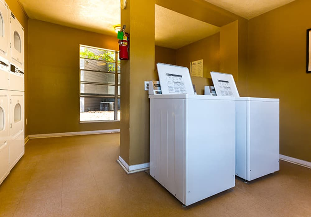 Onsite laundry room at Riverstone Apartments in Bryan, Texas