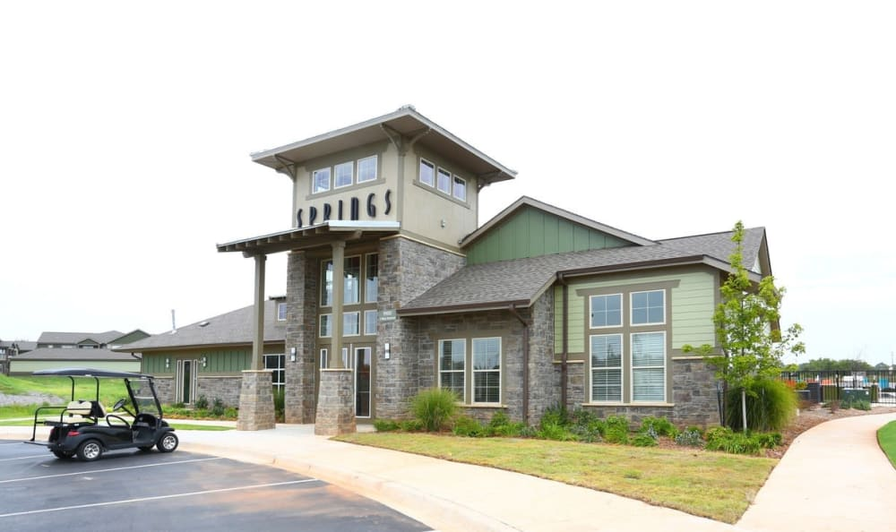 clubhouse exterior Springs at May Lakes in Oklahoma City, OK