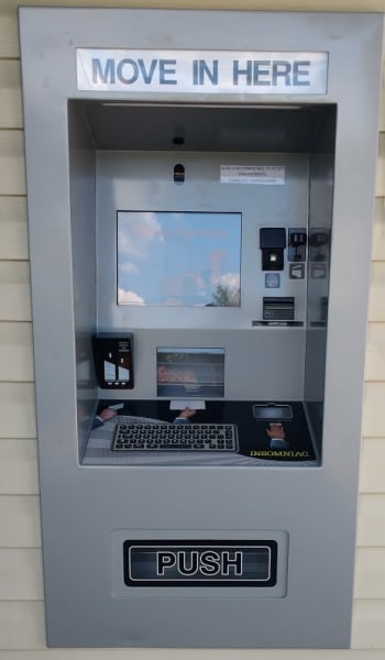 The kiosk at Global Self Storage in Merrillville, Indiana