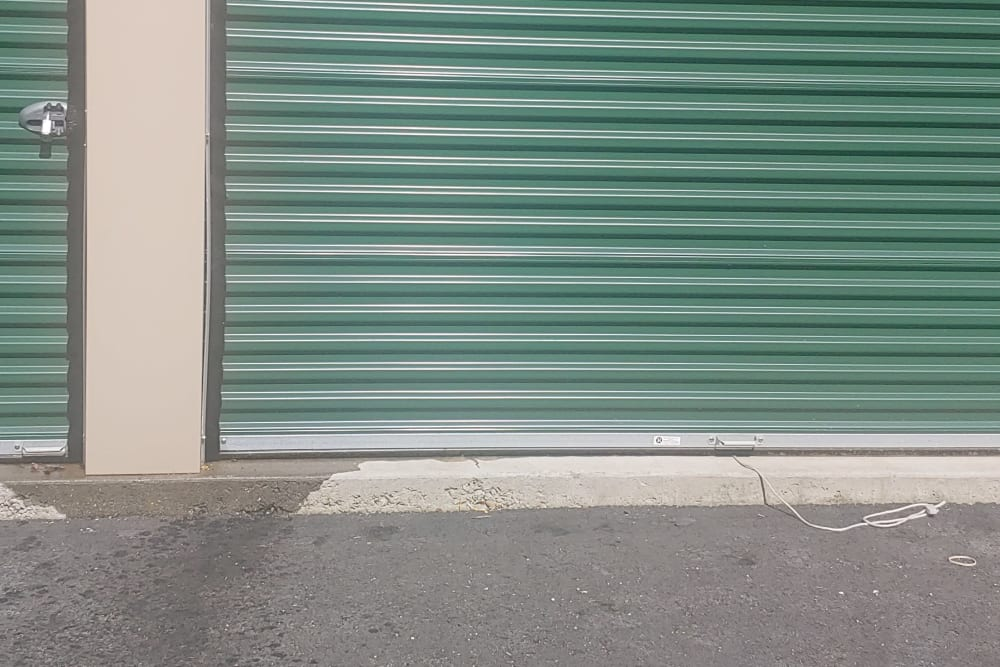 Sturdy storage doors at 603 Storage - West Milford in Milford, New Hampshire