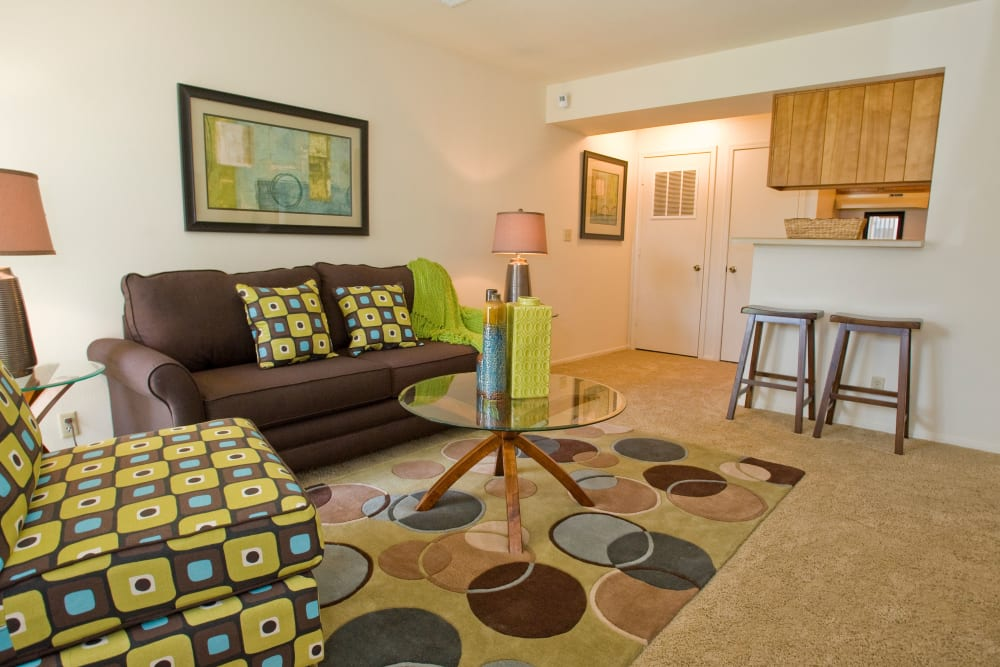Bright living room at Boulder Ridge in Tulsa, Oklahoma