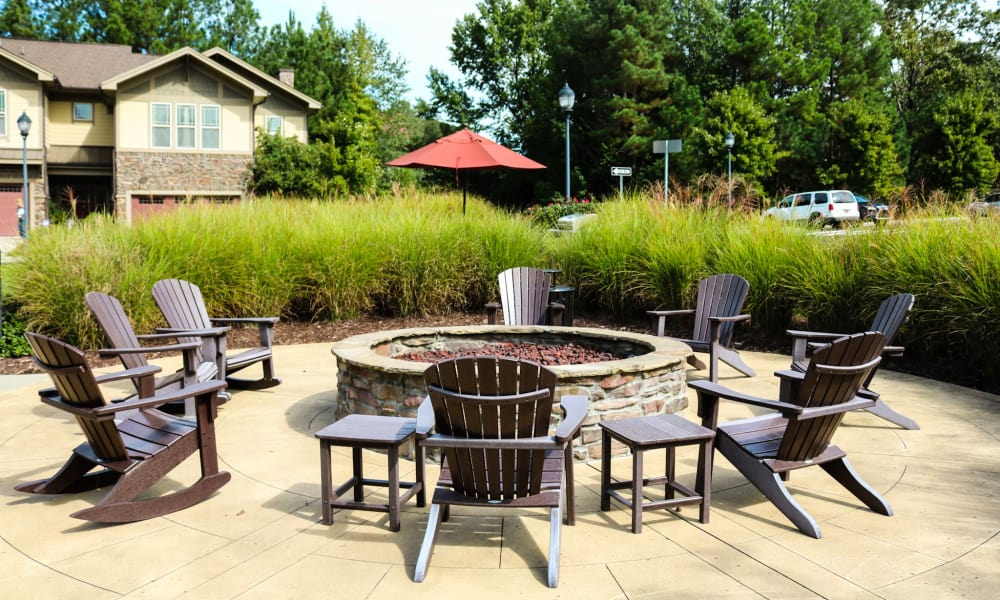 Fire pit to gather with friend at Cosgrove Hill