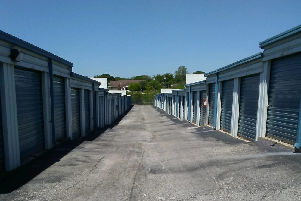 Exterior units at Store It All Self Storage - Judson in San Antonio, TX