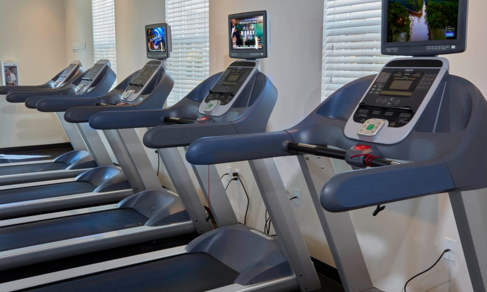 Community fitness center at Lexington Village Apartments in Madison Heights, Michigan