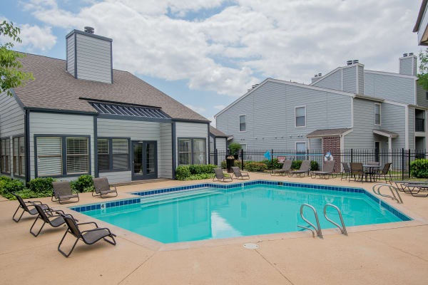 Swimming pool at Cedar Glade Apartments in Tulsa, Oklahoma