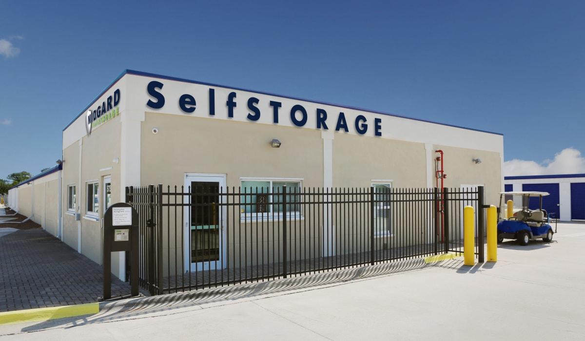 Front of Midgard Self Storage in Melbourne, Florida
