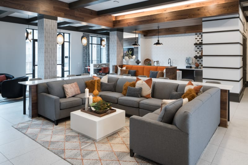 cool hang area for entertaining at The ReVe in Garland, Texas