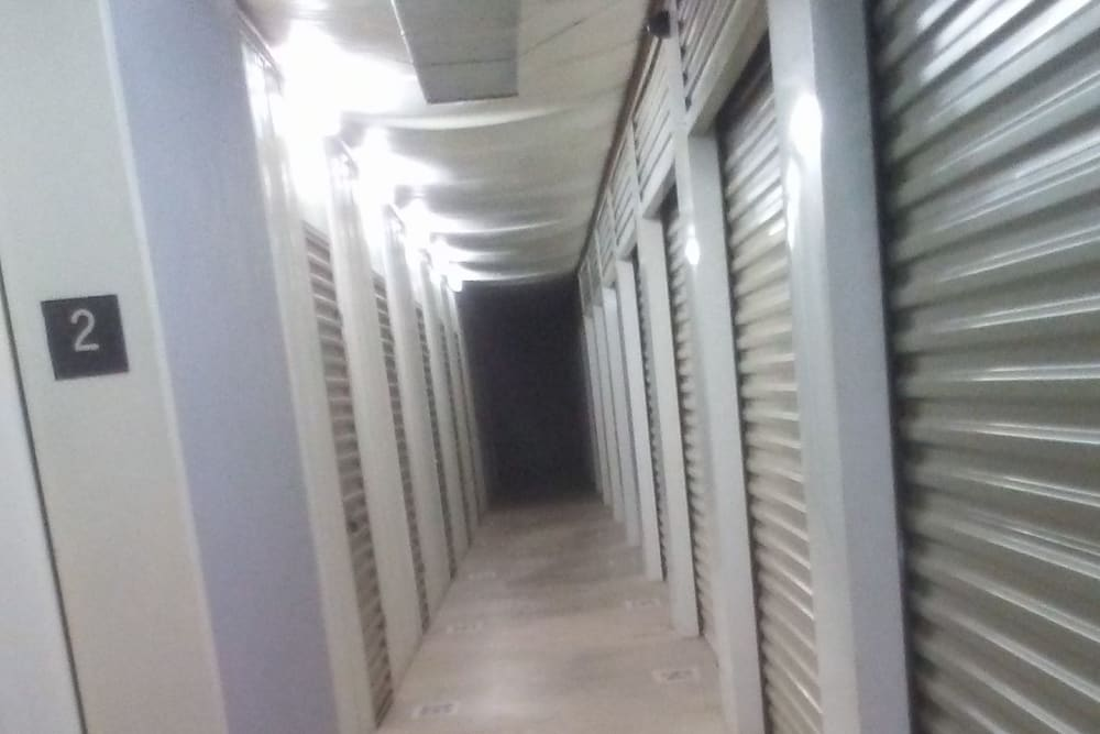 Indoor storage units at Store It All Self Storage - Del Norte in Laredo, Texas