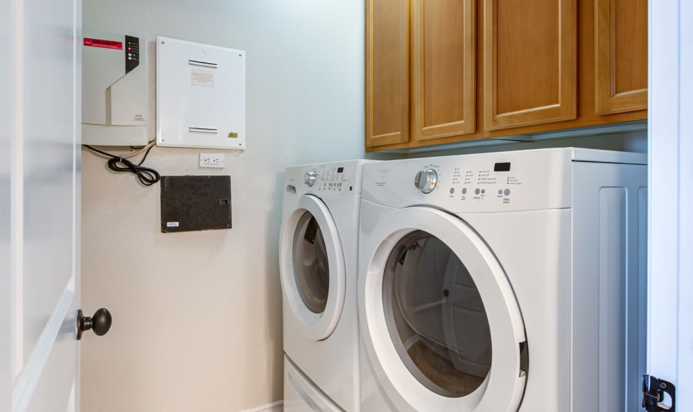 laundry room at IMT Rancho Serrano Townhomes in Thousand Oaks, CA