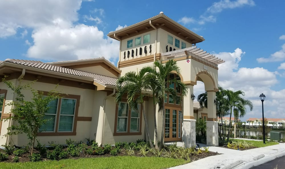 clubhouse exterior Springs at Gulf Coast in Estero, FL