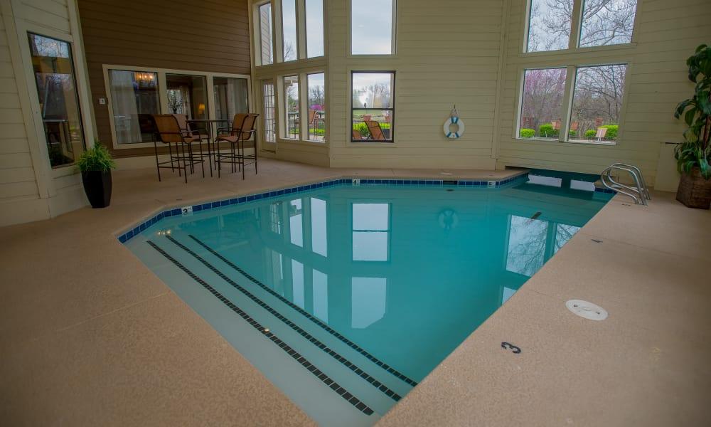 Indoor pool at Creekwood Apartments in Tulsa, Oklahoma