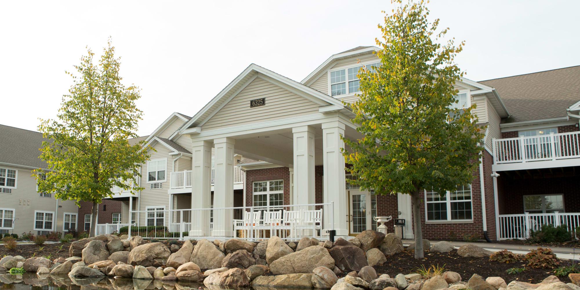 Exterior of main building at The Keystones of Cedar Rapids in Cedar Rapids, Iowa.