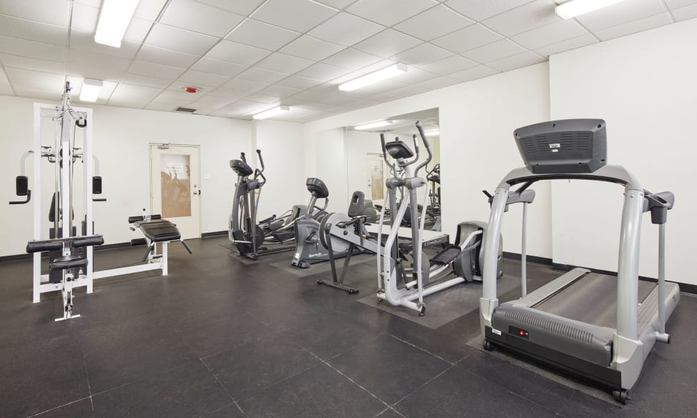 State-of-the-art fitness equipment at Mississauga Place in Mississauga, Ontario