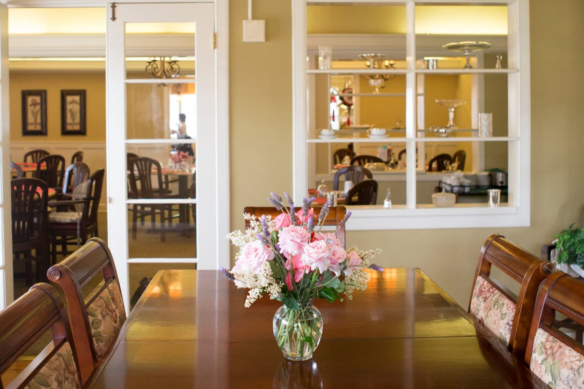 A private dining room at Gables of Ojai in Ojai, California