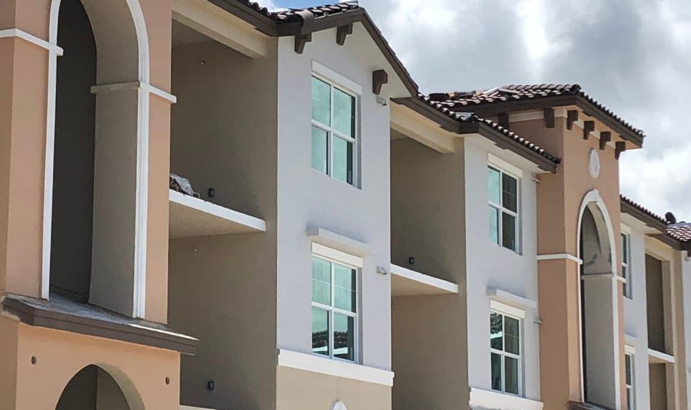 Beautiful facade at Luma at Miramar in Miramar, Florida