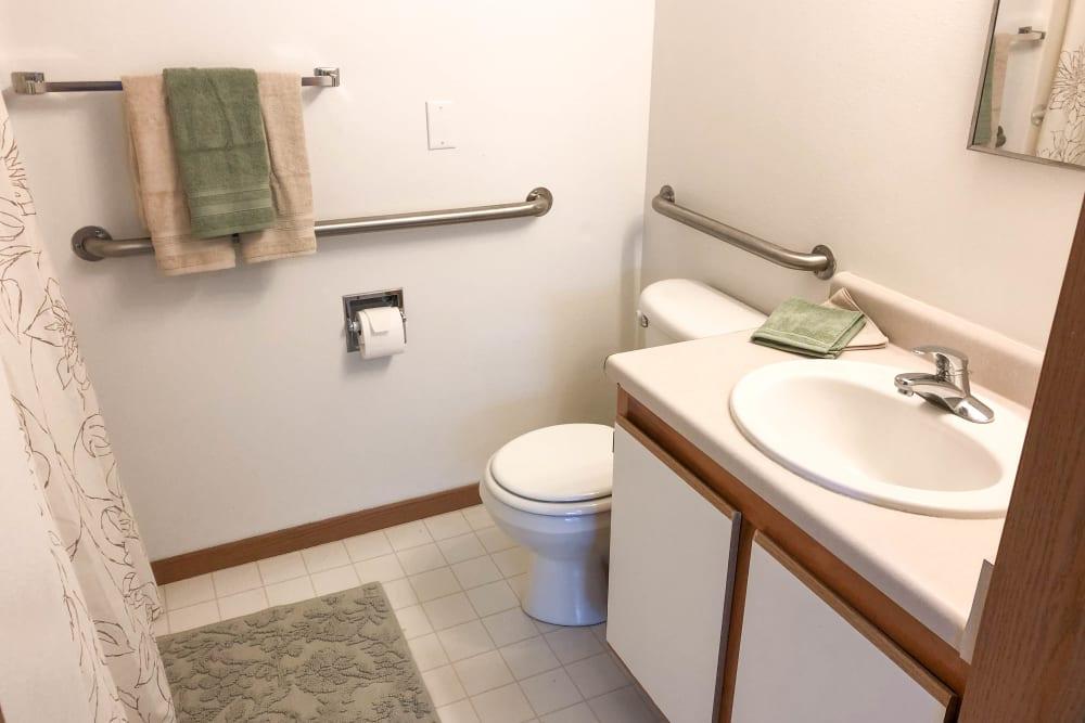 Bathroom at Regency Heights in Iowa City, Iowa