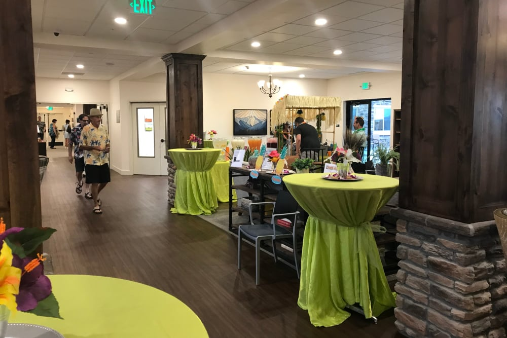 Luau party at Pine Grove Crossing in Parker