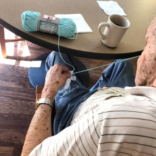 Yarn crafts at FountainBrook in Midwest City, Oklahoma