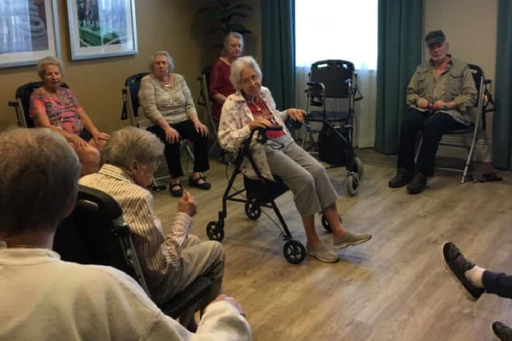 Group activity at Beach House Assisted Living & Memory Care at Wiregrass Ranch in Wesley Chapel, Florida