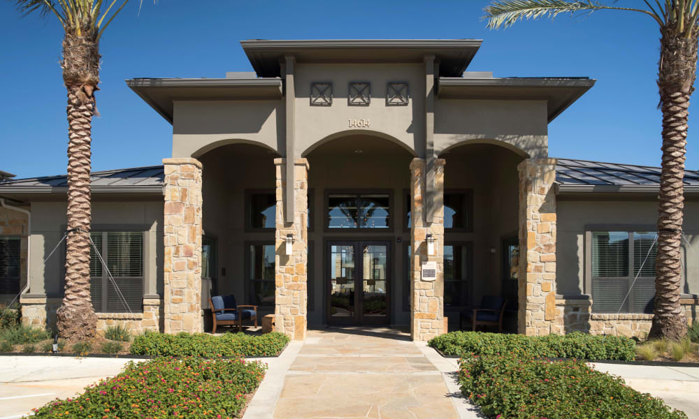 Main entrance at Savannah Oaks in San Antonio, Texas