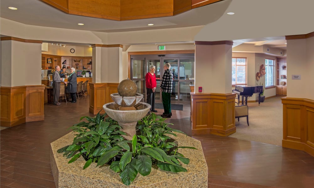 Foyer and reception at Quail Park of Lynnwood in Lynnwood, Washington