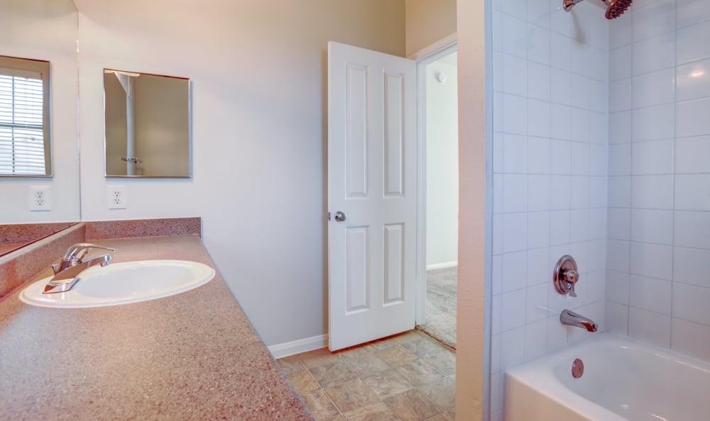 Bathroom at apartments in Austin, Texas