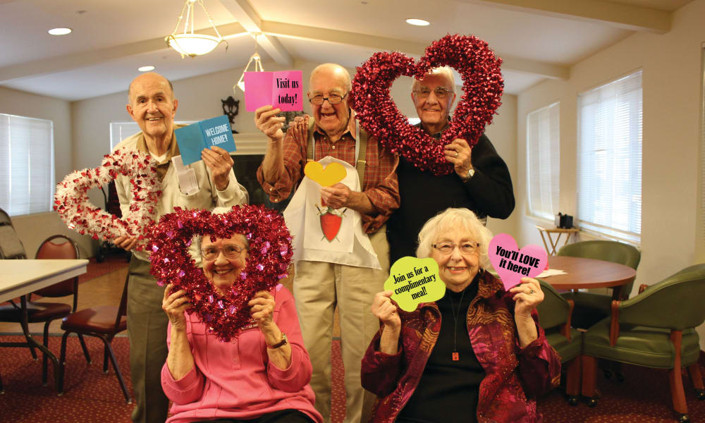 Current residents welcoming new residents to Springwood Landing Gracious Retirement Living in Vancouver, Washington