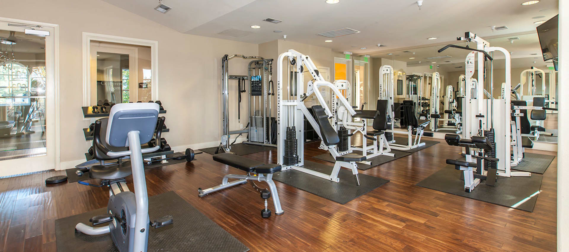 Modern fitness center at Park Central in Concord, California