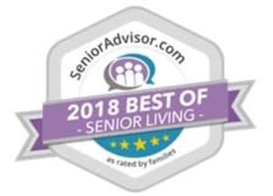 Traditions of Hanover Wins 2018 Best of Senior Living Award from SeniorAdvisor.com