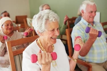 Residents Working Out at Grand Villa of Delray East in Delray Beach, Florida