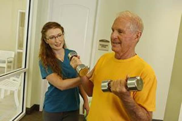 Fitness programs for Caruth Haven Court senior living residents.