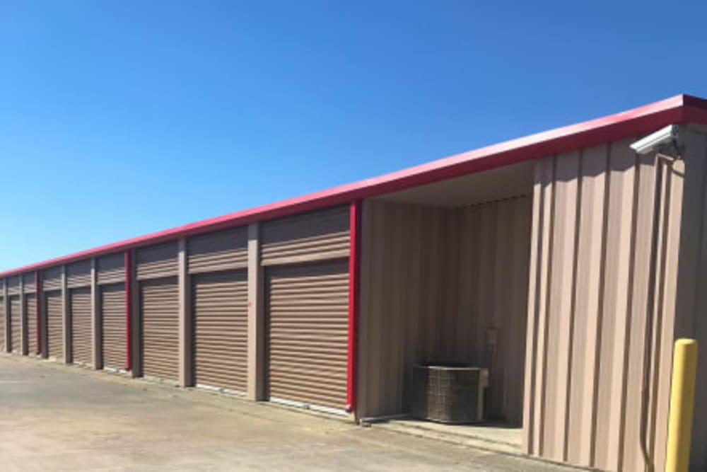 Exterior of outdoor units at Storage Star Tomball in Tomball, Texas