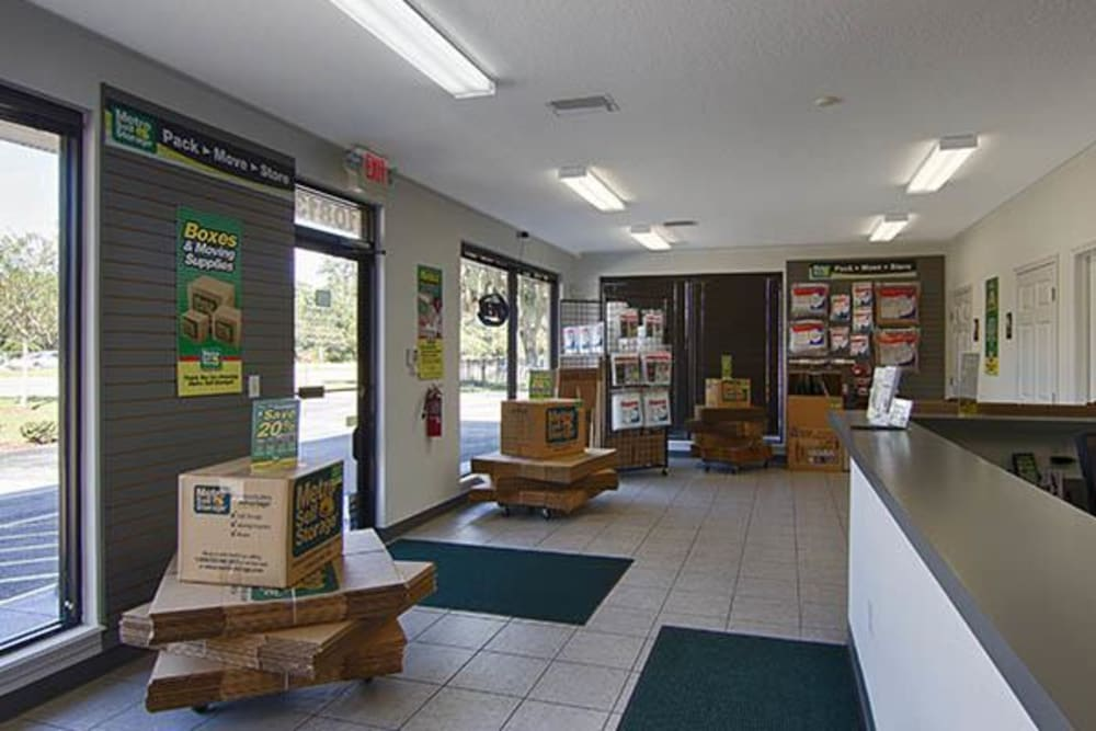 Office at Metro Self Storage in Riverview, FL offers packing and moving supplies