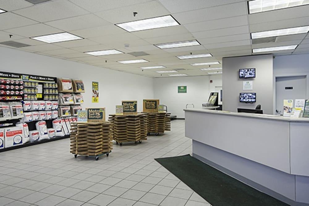 Interior view reception at Metro Self Storage in Chicago, Illinois