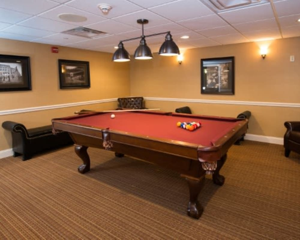 Billiards room at The Hearth at Juday Creek in Granger, Indiana