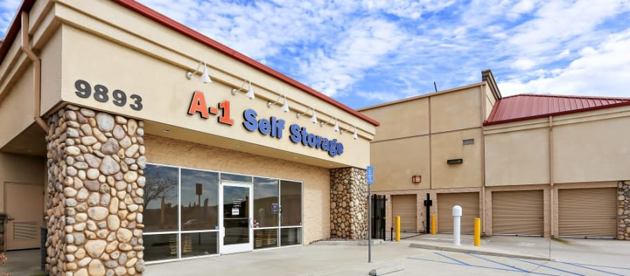Front sign on our building at A-1 Self Storage in Lakeside, California