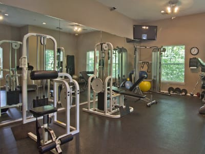 Fitness center at Highlands of Montour Run in Coraopolis, PA