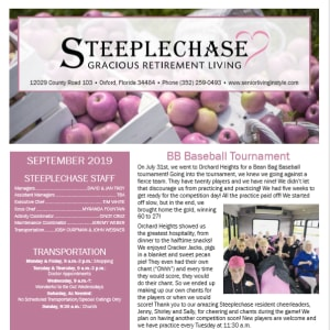 September Steeplechase Retirement Residence Newsletter
