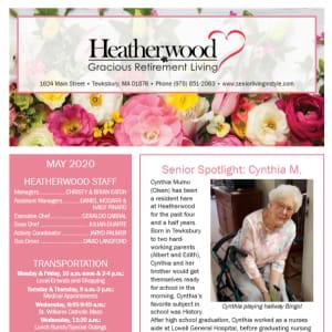 May Heatherwood Gracious Retirement Living Newsletter
