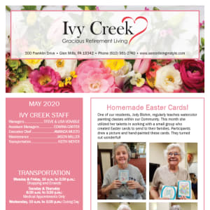 May Ivy Creek Gracious Retirement Living newsletter