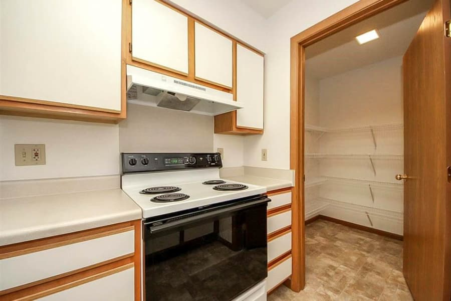 Kitchen and pantry at Regency Heights in Iowa City, Iowa