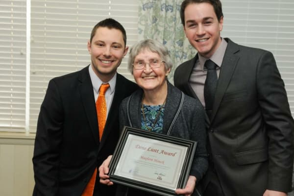 FOX optimal living award given to a resident at Chestnut Knoll in Boyertown, Pennsylvania