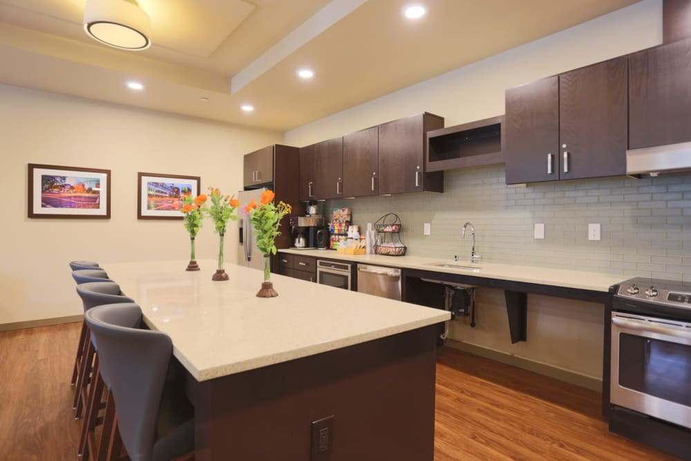 Kitchen area in The Lofts at Glenwood Place in Vancouver, Washington
