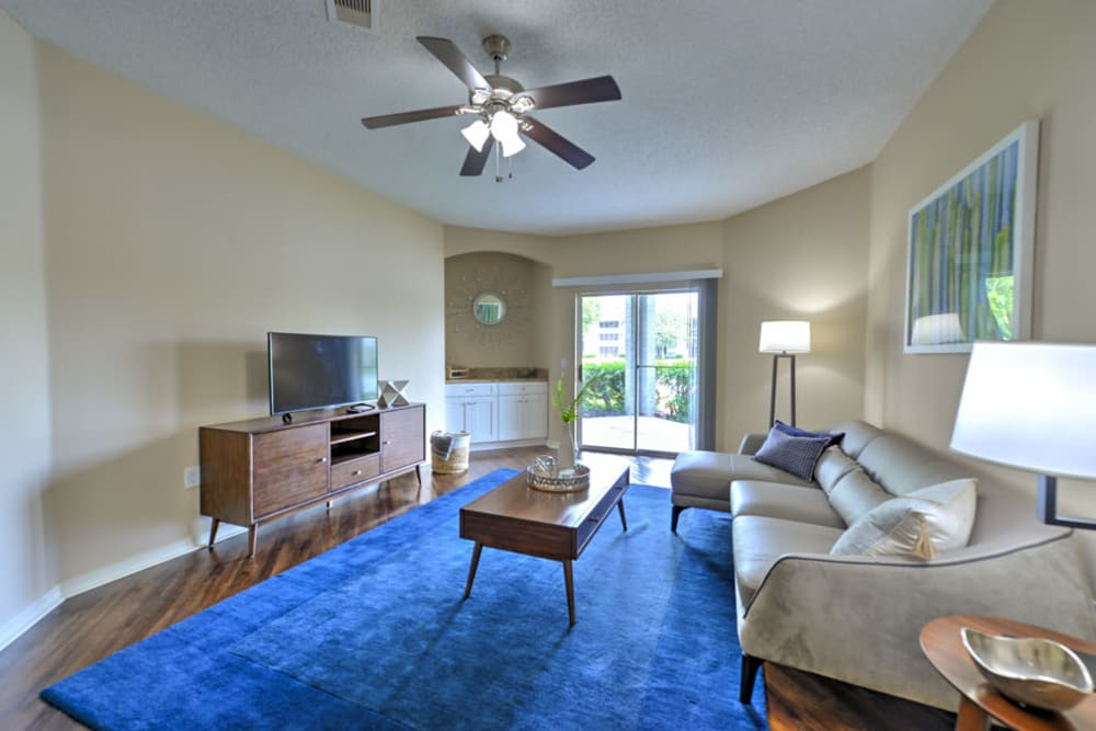 Living room at Ocean Park of Ponte Vedra in Jacksonville Beach, FL