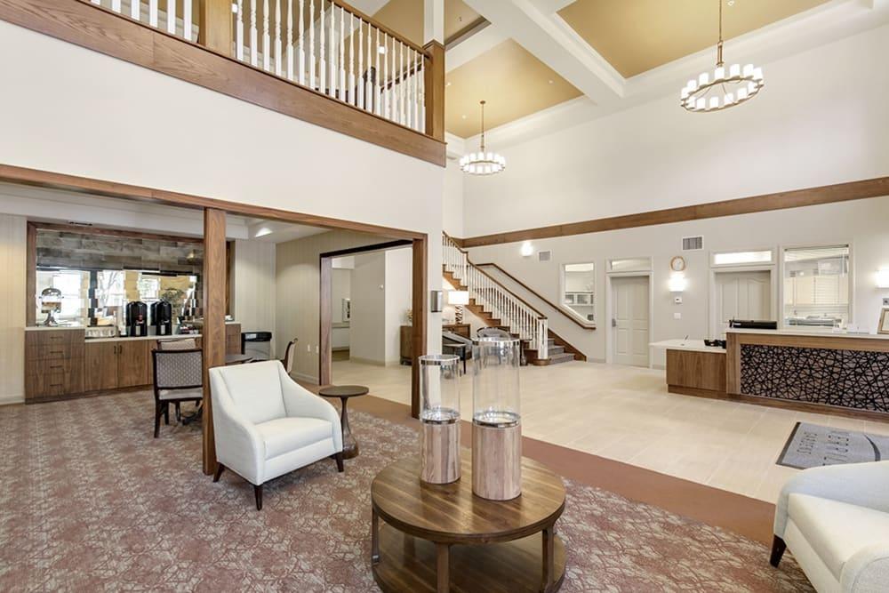 The lobby at Merrill Gardens at Oceanside in Oceanside, California.