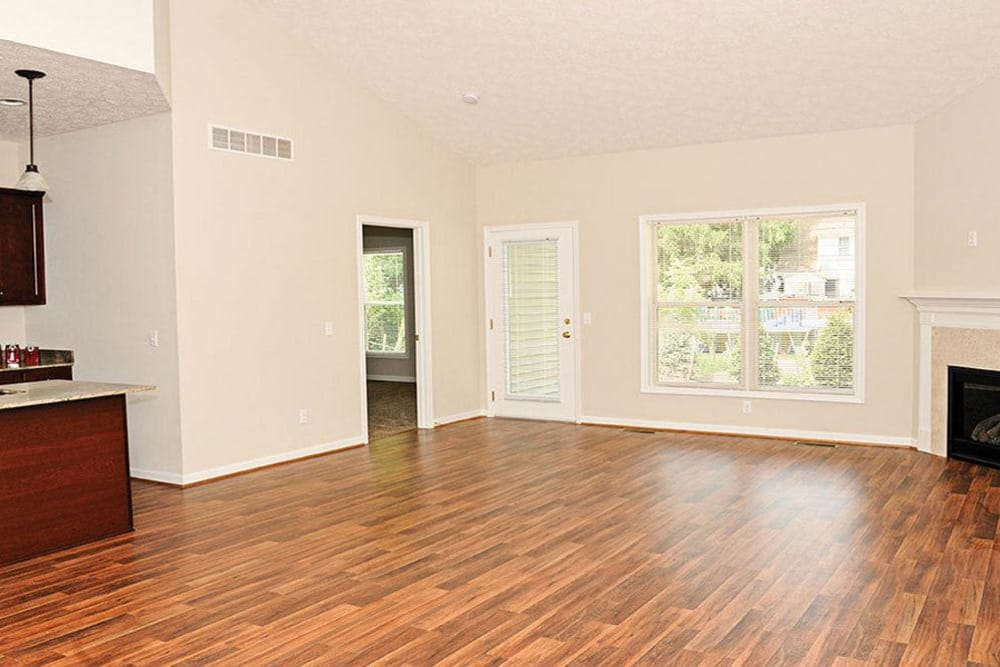 Amenities at Village Path feature beautiful hardwood floors and fireplaces in Webster NY